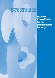 Diamond ID Saw blades For The Semiconductor Industry – WINTER