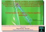 Conservação da mata e a fauna aquática associada - SIGAM