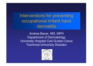 Interventions for preventing occupational irritant hand dermatitis