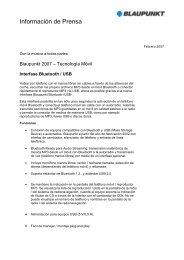 Interfase Bluetooth /USB - Bosch Argentina