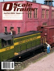 Modeling for the O Scale Craftsman Modeling for the ... - O scale trains