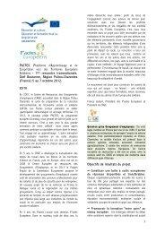 PACTES: Plateforme d'Apprentissage et de ... - Pactes Locaux
