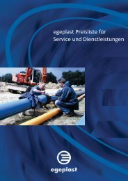 Download der Service-Preisliste - Egeplast