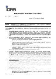 Clienti e Fornitori - Idra Group