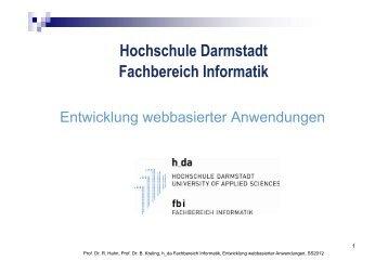 Hochschule Darmstadt Fachbereich Informatik - beim Fachbereich ...