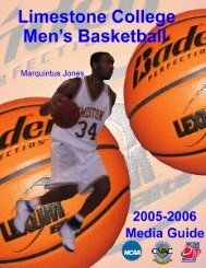 05-06 MBB Media Guide - Limestone Athletics