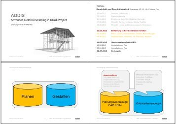 Planen Gestalten - InfAR - Bauhaus-Universität Weimar