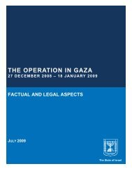 THE OPERATION IN GAZA:
