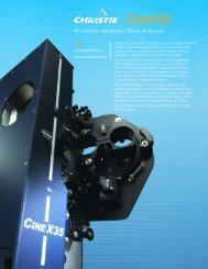 CineX35 Brochure - Christie Digital Systems