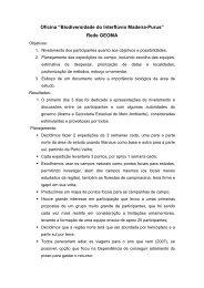 """Oficina """"Biodiversidade do Interflúvio Madeira-Purus"""" Rede GEOMA"""