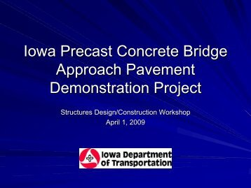 Use of Precast, Post-Tensioned Concrete Panels for Highway ...