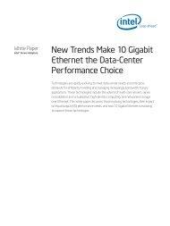 New Trends Make 10 Gigabit Ethernet the Data-Center ... - Intel