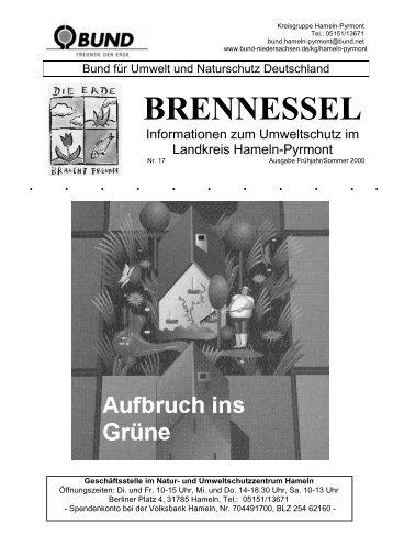 Brennessel 17 Frühjahr Sommer 2000 - Hermes-familie.de