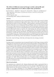 The effects of different conserved forages on fatty acid profile and ...