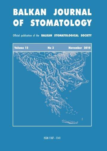 View - balkan stomatological society