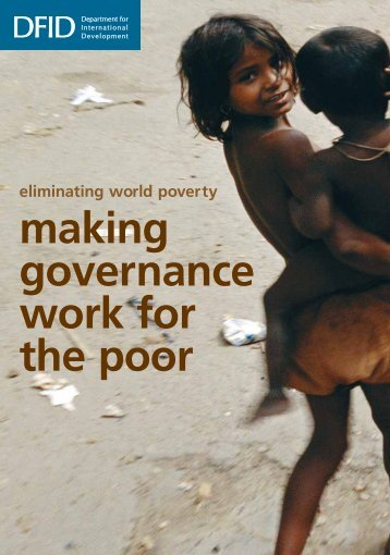 White Paper: Making governance work for the poor - Bond