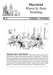 Nr. 5 14.03.2011 - der Pfarrei St. Peter in Straubing
