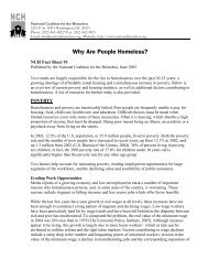 Why Are People Homeless? - National Coalition for the Homeless
