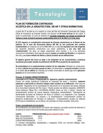 Circular de mayo 2008 colegio oficial de dentistas de - Colegio arquitectos granada ...