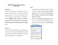 ERB9250 Wireless N Range Extender Quick Guide - WiFi Shop