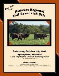 Saturday, October 25, 2008 - Missouri Braunvieh Association