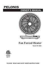 OWNER'S MANUAL Fan Forced Heater