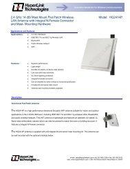 2.4 GHz 14 dBi Mast Mount Flat Patch Wireless LAN Antenna with ...