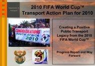 2010 FIFA World Cup - Parliamentary Monitoring Group