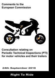 Consultation relating on Periodic Technical ... - Right To Ride EU