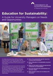 Education for Sustainability: - Insight – University of Gloucestershire