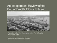 An Independent Review of the Port of Seattle Ethics Policies