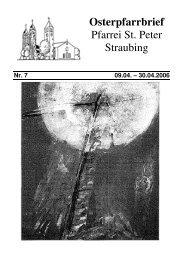 Osterpfarrbrief Pfarrei St. Peter Straubing - der Pfarrei St. Peter in ...