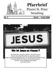 Pfarrbrief - der Pfarrei St. Peter in Straubing
