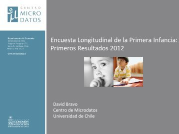 Encuesta Longitudinal de la Primera Infancia: Resultados 2012