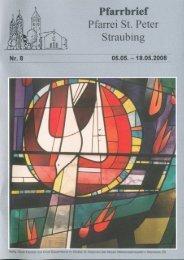Minis - der Pfarrei St. Peter in Straubing