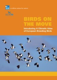 BIRDS ON - European Bird Census Council