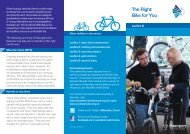 Choosing The Right Bike - Swindon Travel Choices