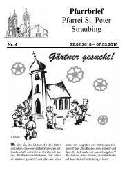 22.02. – 07.03. - der Pfarrei St. Peter in Straubing