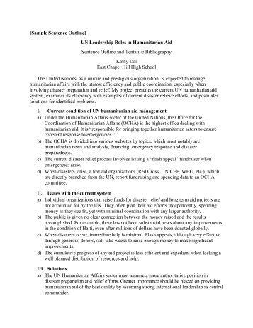 [Sample Sentence Outline] - United Nations Association - West ...