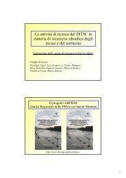Le attività di ricerca del DITIC in materia di ... - idrologia@polito