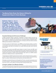 Tandberg Data Does the Heavy Lifting for Equipment Depot's Data ...