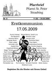 19:00 Maiandacht - der Pfarrei St. Peter in Straubing