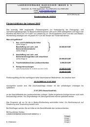 Rundschreiben 02-2010 Fördermittel 2010 - Landesverband ...