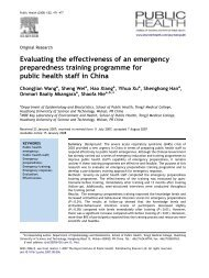 Evaluating the effectiveness of an emergency ... - ResearchGate
