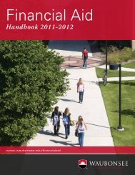 Financial Aid - Waubonsee Community College