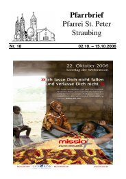 17:30 Oktoberrosenkranz - der Pfarrei St. Peter in Straubing