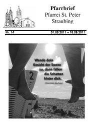 14.00 Uhr in St. Michael - der Pfarrei St. Peter in Straubing