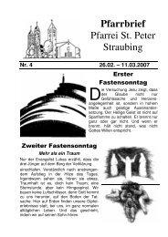 17:00 Aussetzung des Allerheiligsten und Anbe - der Pfarrei St ...