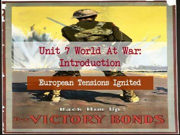 Unit 7 World At War: Introduction