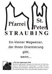 (Tel. 21532). - der Pfarrei St. Peter in Straubing